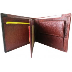 TAN Black Leather Wallet