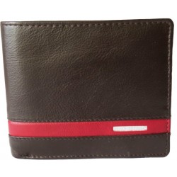Maroon Strip Leather Wallet