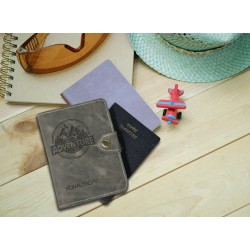 Adventure  Design Leather Personalized Passport Cover