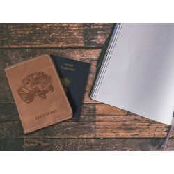 Car Design Leather Personalized Passport Cover