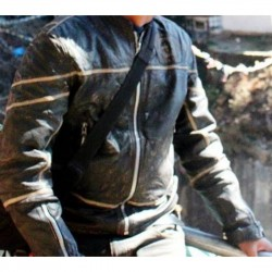 Danson Black Biker's Leather Jacket