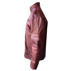 buffalo leather jacket with tan colour