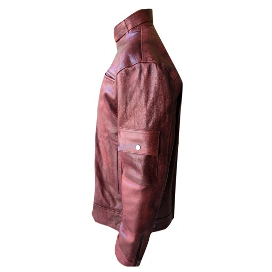 Berry Leather Jacket (BUFF0891)