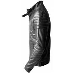 Black buffalo leather jacket