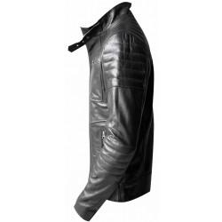 Black buffalo leather jacket