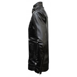 Buffalo leather biker jacket