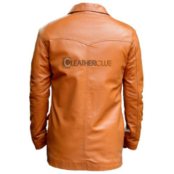 Leather jacket with 4 pocket