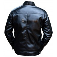 Solid Black Leather Jacket