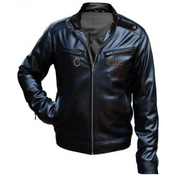 GENTS FAUX LEATHER JACKET