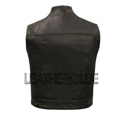 Two chest pocket leather waistcoat