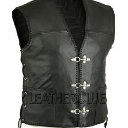 Black Leather Waistcoat
