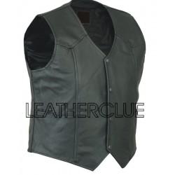Classy Leather Waistcoat