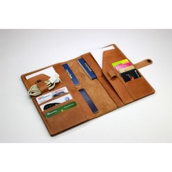 Family travel wallet with 4 passport carrying options