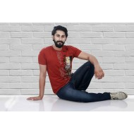 Stylish Red Colour Tshirt