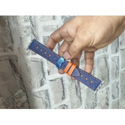 Blue and Orange Apple Watch Strap