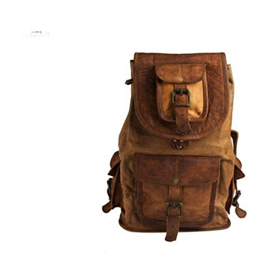 16 Leather Backpack for College Bag for Men & Women