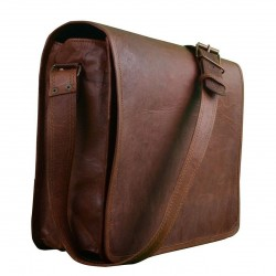 """Dark Brown 13"""",Znt Bags Boy's and Girl's Original Leather Laptop Bag"""