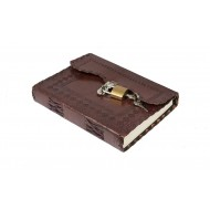 Leather Handmade Classic Key Lock Design Diary/Notebook Journal/Notepad For Writing, Office Work