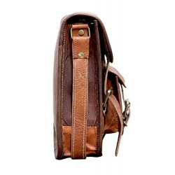 Men's and Women's Leather Sling Messenger Bag