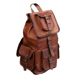 Original Leather Classy Bags 16'' Retro/Vintage Dapper Sailor Rucksack/Backpack/Bag/Bags for Men/Women/Boys/Girls/Male