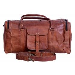 Leather Duffel Travel Gym Sports Overnight Weekend Duffel Bag