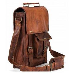 100%Genuine Leather tablet shoulder Bag Brown Brown Leather Casual Messenger Bag