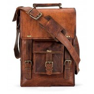 100%Genuine Leather tablet shoulder Bag Brown Brown Leather Casual Messenger Bag