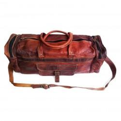 Brown Solid Duffle Bag