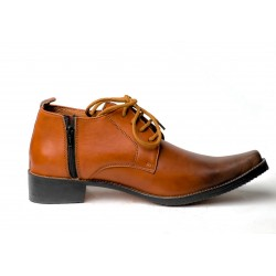 Cap Toe Hand Made Leather Shoe(RNLS110)