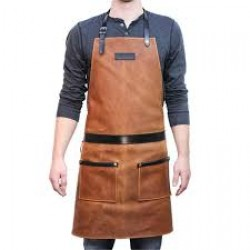 Waxed Canvas Work Leather Apron(APLC0204)