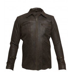 Jasper Distressed Leather Jacket(SVLC202)