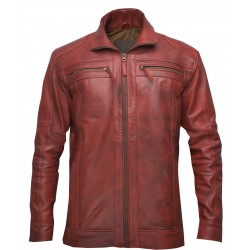 Cardinal Leather Jacket(SVLC0207)