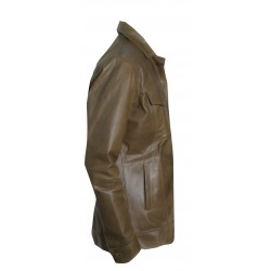 Olive Drab Leather Jacket(SVLC0211)