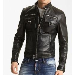 Leather Zipup Jacket