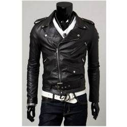 Vincent Biker's Black Leather Jacket
