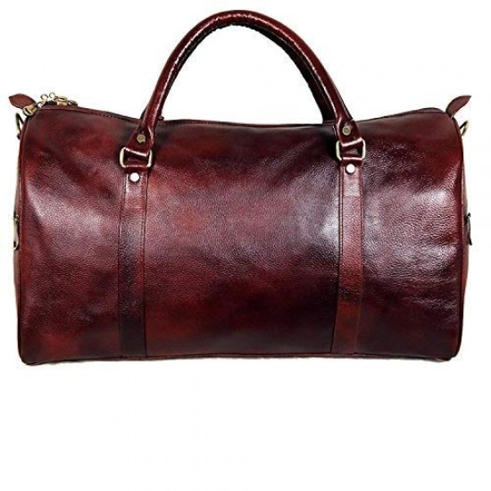Leather Villa Leather Briefcase Bag for Men |15.6'' Laptop Compartment| |Expandable Features| |High Security Combo Number Lock| 18 Liters | Color (Brown)