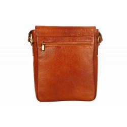 LV Genuine Leather |Cross Body Sling Bag| for Men & Women | Laptop Compartment| |Expandable Features| |MackBook,Notebook & Ipad Carry Case | (Tan)
