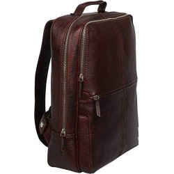 15 inch Leather Laptop Backpack - Brown
