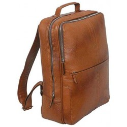 15 inch Leather Laptop Backpack - Tan