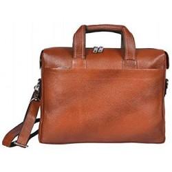 16 inch Expandable Laptop Messenger Bag - Tan
