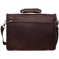 16 inch Expandable Laptop Messenger Bag - Brown