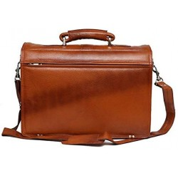 16 inch Expandable Laptop Messenger Bag - Tan