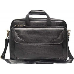 16 inch Expandable Laptop Messenger Bag - Black