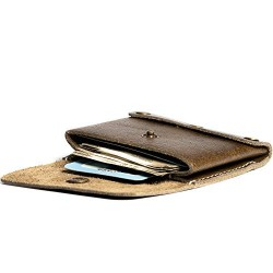 Hiller Leather Business Card Holder/Pocket Wallet/Money Purse for Men & Women. (Writer Trek)