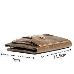 Hiller Leather Business Card Holder/Pocket Wallet/Money Purse for Men & Women (Writer Trek)