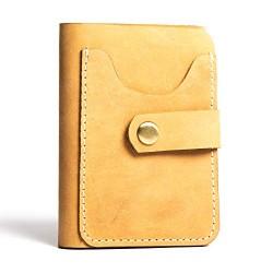 Hiller Leather Business Card Holder/Pocket Wallet/Money Purse for Men & Women (Elmotique Champagne)
