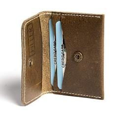 Hiller Leather Business and Credit Card Holder/Money Purse/Pocket Wallet for Men and Women. (Writer Trek)