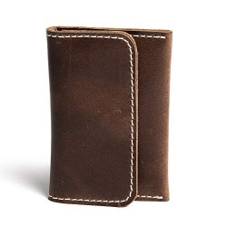 Hiller Leather Business and Credit Card Holder/Money Purse/Pocket Wallet for Men and Women. (Castle Sedona)