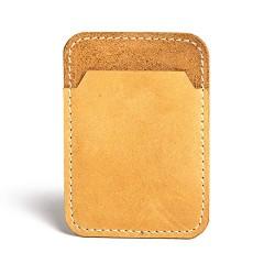 Hiller Leather Mobile Business Card Holder/Pocket Wallet/Money Purse for Men and Women. (Tan)