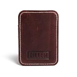 Hiller Leather Mobile Business Card Holder/Pocket Wallet/Money Purse for Men and Women. (Brunette)